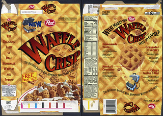 Post - Waffle Crisp - introductory free trial size - cereal box - 1996 | by JasonLiebig