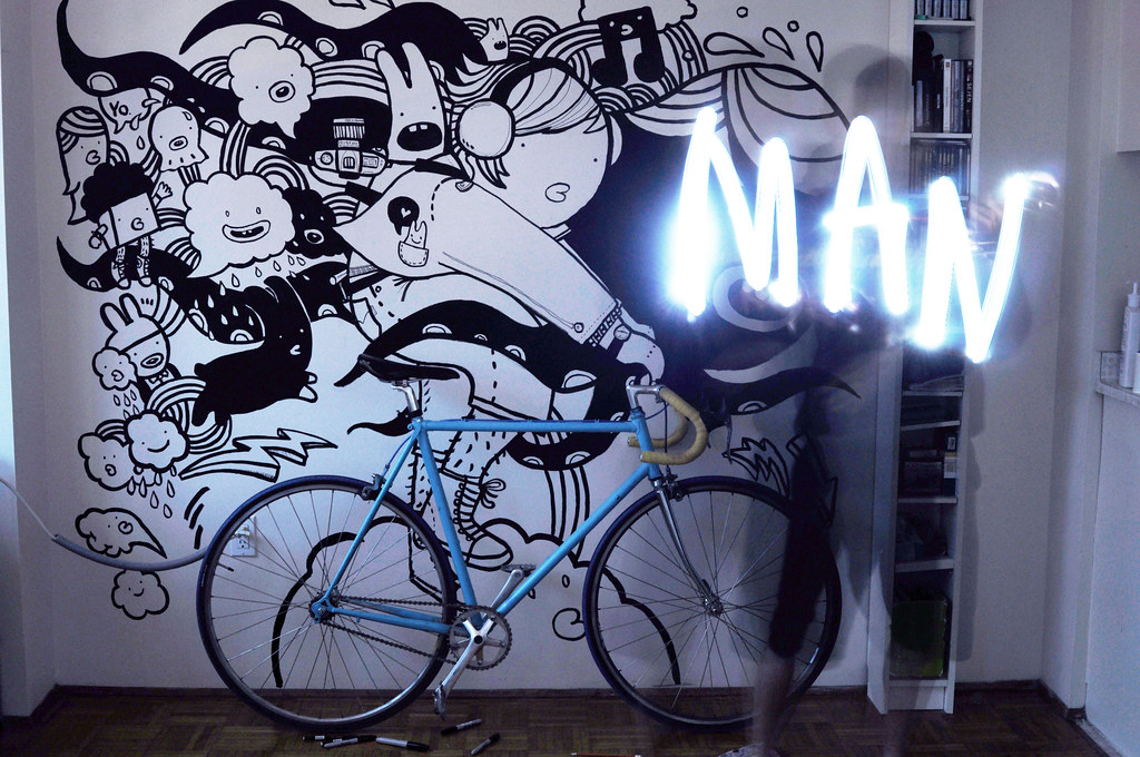 Chairman Ting - Bicycle wall art | One of the 1,800 shots I … | Flickr
