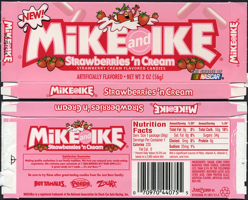 JustBorn - Mike and Ike Strawberries 'n Cream candy box - 2004 | by JasonLiebig