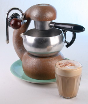 Atomic Coffee Maker How To Use : Well Worn Atomic Coffee Maker The paint on this Atomic ...