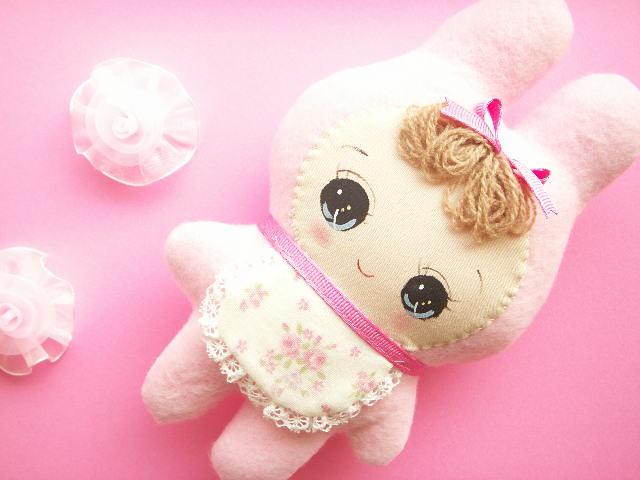 Japanese Kawaii Handmade Girly Bunka Doll Plush Pink Cute ...