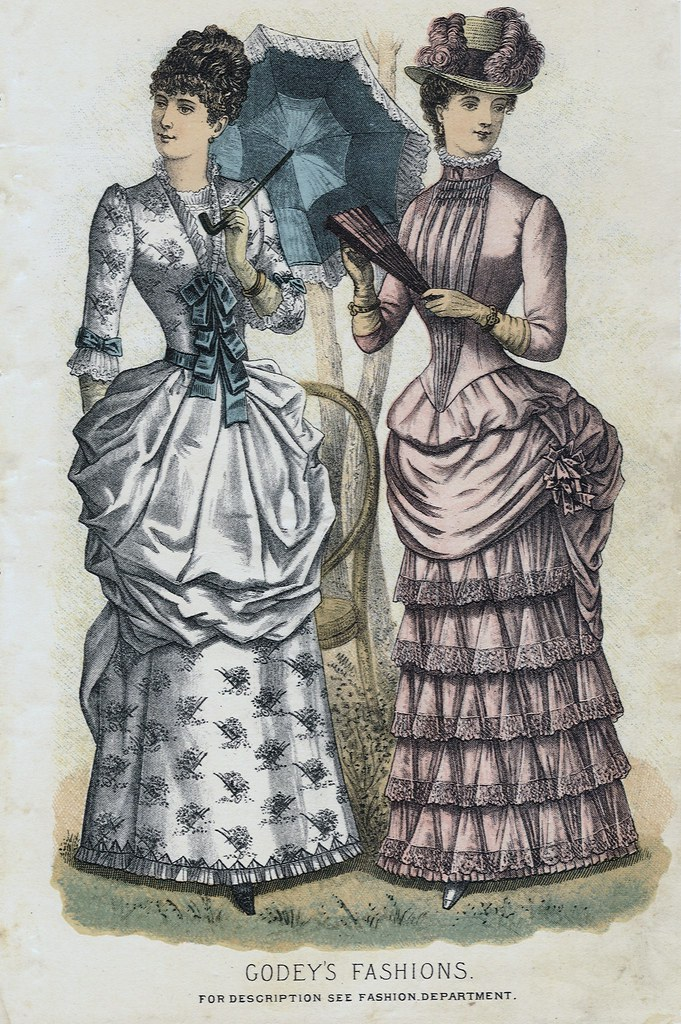 Godey Lady S Book Spring 1884 Fashion Plate Godey S