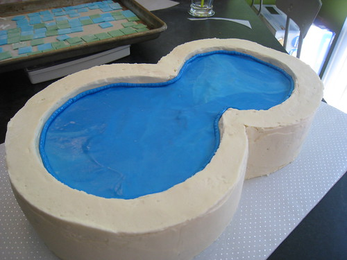 Making Of The Swimming Pool Cake More About This Cake Ww Flickr