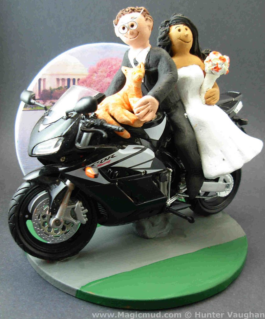 motorcycle wedding cake toppers unique sportbike motorcycle wedding cake topper sportbike 17617