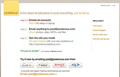 Posterous - The place to post everything. Just email us. Dead simple blog by email. | by bokardo