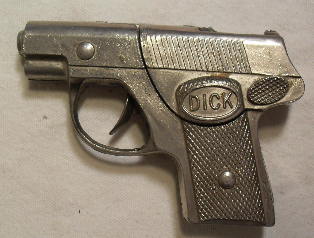 1930s 1940s Vintage Toy Hubley Detective Pistol From My