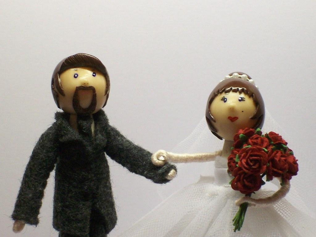 Clothespin Wedding Cake Topper