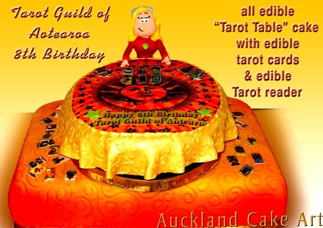 tarot reader table birthday cake  all edible tarot reader w…  flickr, Birthday card