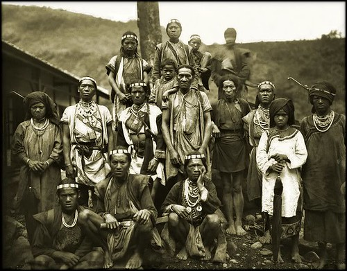 Taiwan Aborigines, Bunun Tribe, Formosa [c1900] Attribution Unk [RESTORED] | by ralphrepo