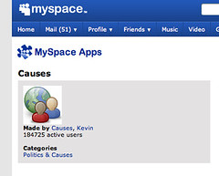 MySpace Causes 184,735 Active Users | by engagejoe
