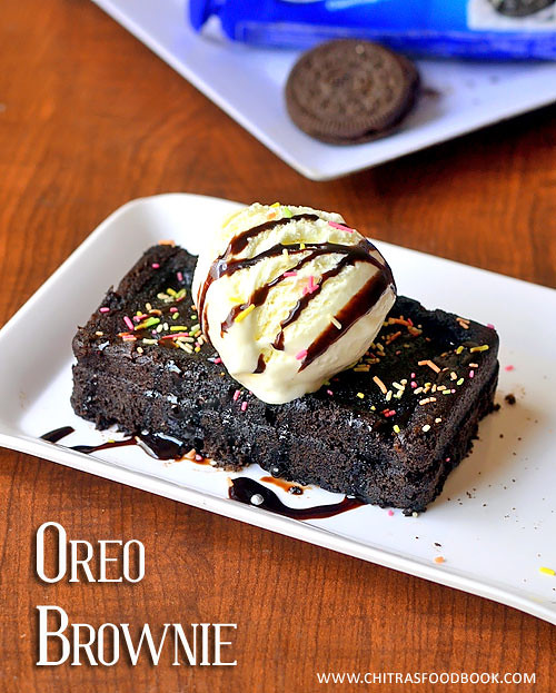 Oreo cookies brownie recipe