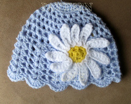 Pdf Crochet Pattern Daisy Beanie For Toddler Size Directi Flickr