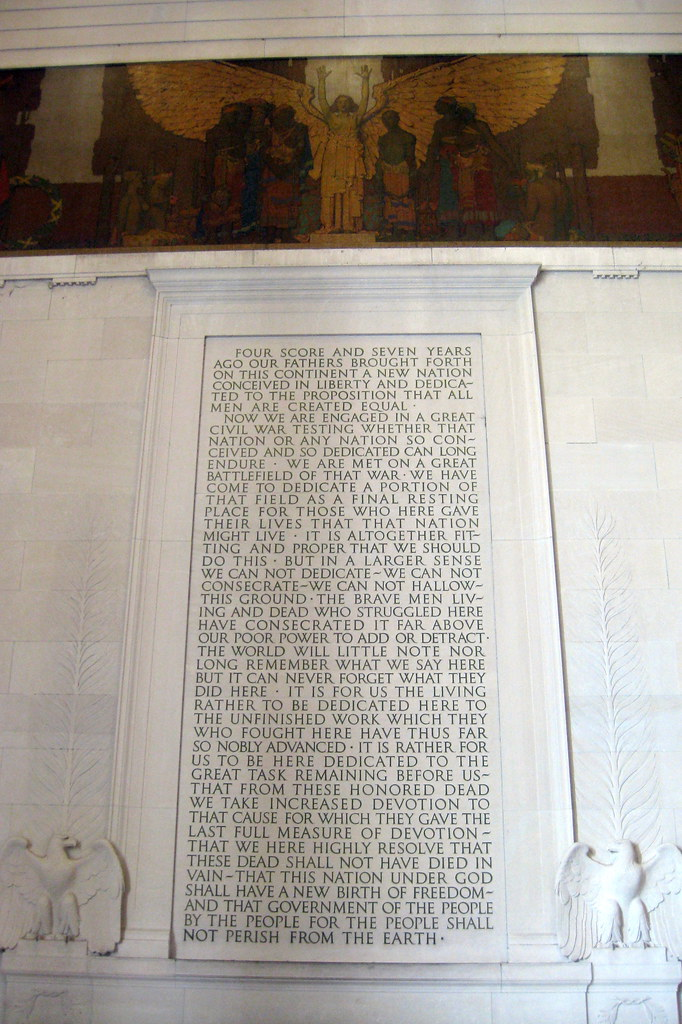 Washington Dc Lincoln Memorial Gettysburg Address Flickr