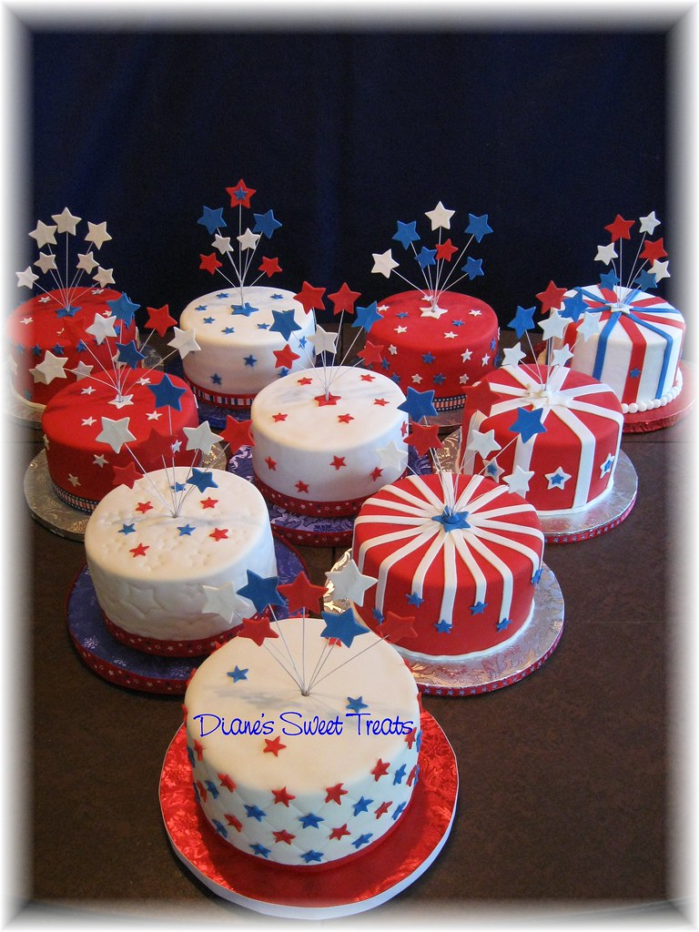 4th Of July Table Cakes All 10 Table Cakes Ready To Go