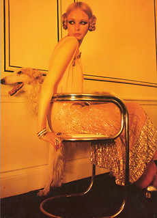 """1960s Deco"", Norman Parkinson for Vogue, 1969 