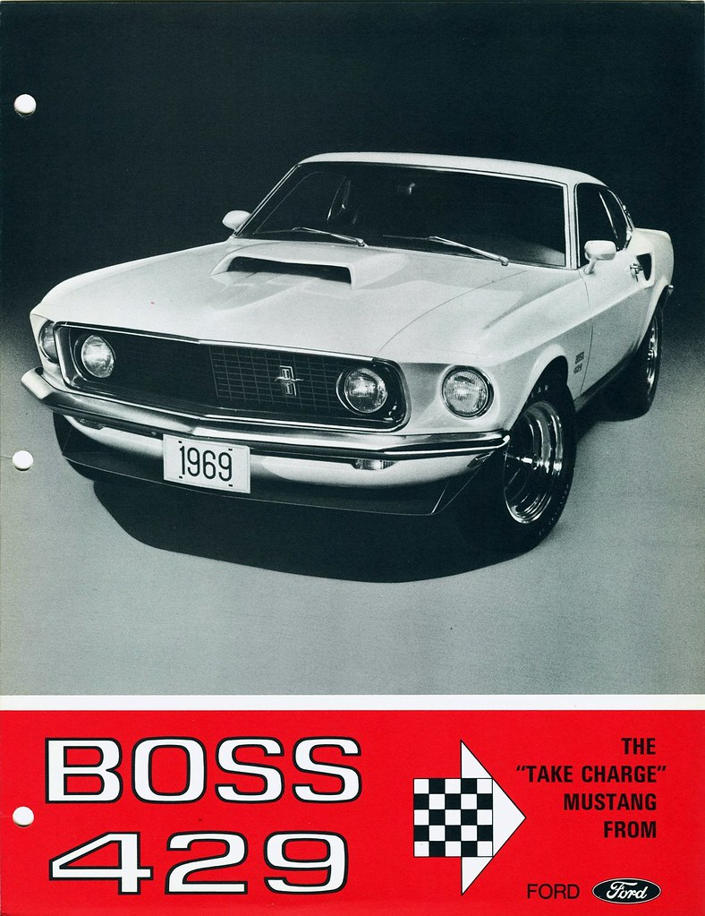 1969 Ford Mustang Boss 429 I Believe This Brochure Has Bee Flickr By Aldenjewell