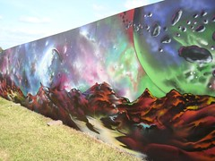 The outer space painted wall by the Red Bull Tent | by princess5exyface