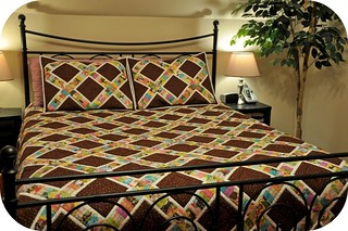 String X Quilt on Bed | by CajunGirlQuilts
