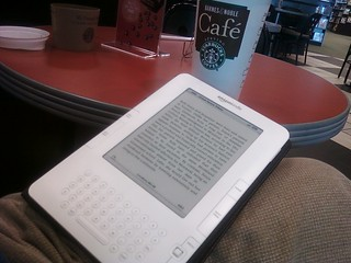 Kindle at the Barnes & Noble Cafe | by rkleine