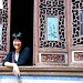 me and ornate windows, hongcun