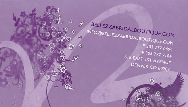 Bellezza bridal boutique business card back bellezza brida flickr bellezza bridal boutique business card back by dakurtz reheart Gallery