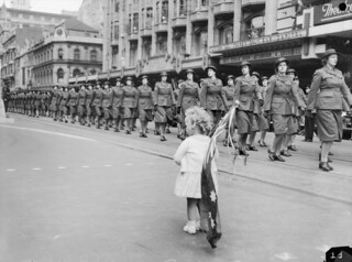 A child watches the march, 1942 | by Australian War Memorial collection