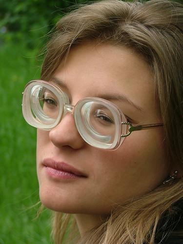 Girls Wearing Vintage Glasses