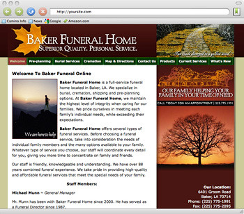 website design for childcare funeral home by pat o 39 kelley flickr. Black Bedroom Furniture Sets. Home Design Ideas