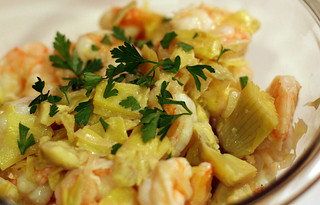 Shrimp Scampi with Artichoke Hearts | by amyisaacson