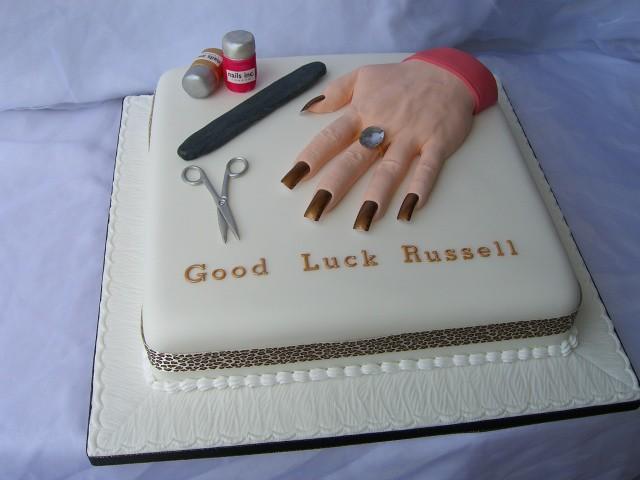3d Cake Nail Art : Nail technician manicure cake Creative Cakes Cirencester ...