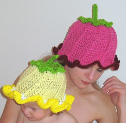 Pdf Crochet Pattern Adorable Hot Pink Flower Hat This List Flickr