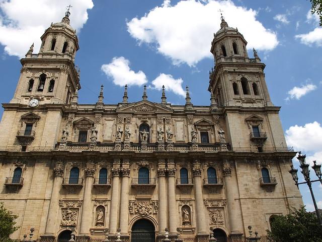 Jaén. Catedral de la Asunción de la Virgen. Fachada y torres  Flickr - Photo...