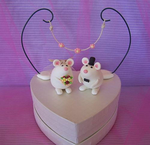 mice wedding cake toppers custom unique mice wedding cake toppers topolini 17333