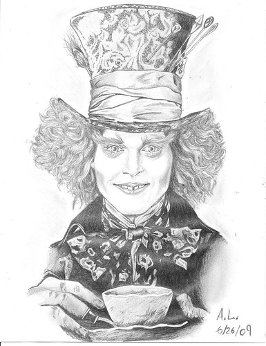 Johnny Depp Mad Hatter Drawing Johnny Depp as The Mad...