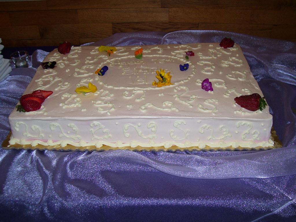 Moms 75th Birthday Cake Thejancat Flickr