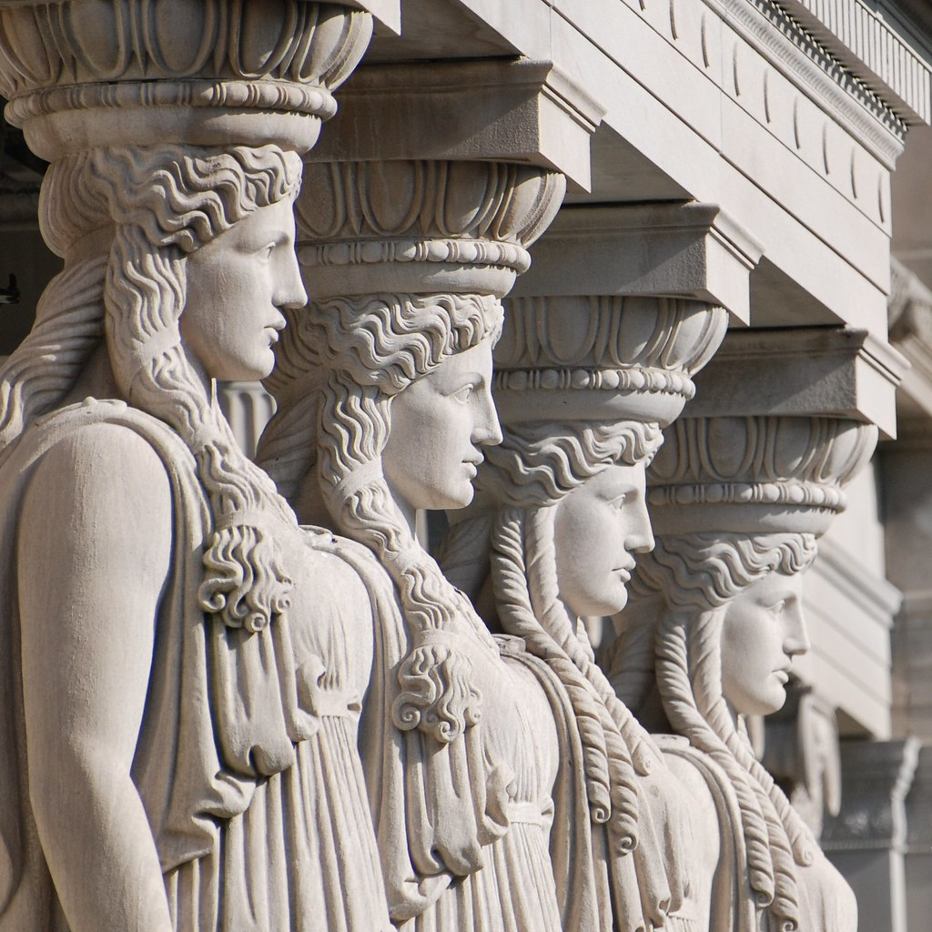 Caryatid columns these stand guard