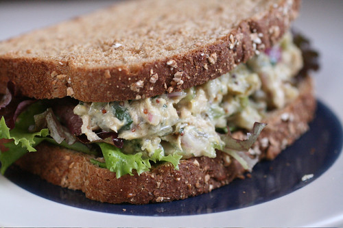Dijon-Cilantro Tuna Salad on Whole Grain Bread | by thebittenword.com