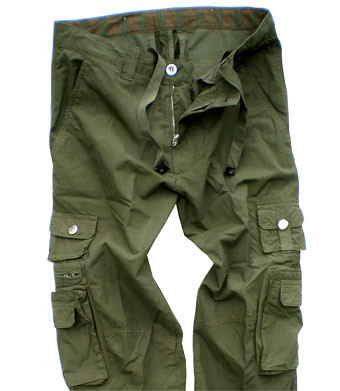 Mens Olive Cargo Pants