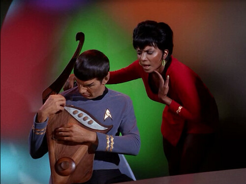 Uhura and Spock | by retrospace.org