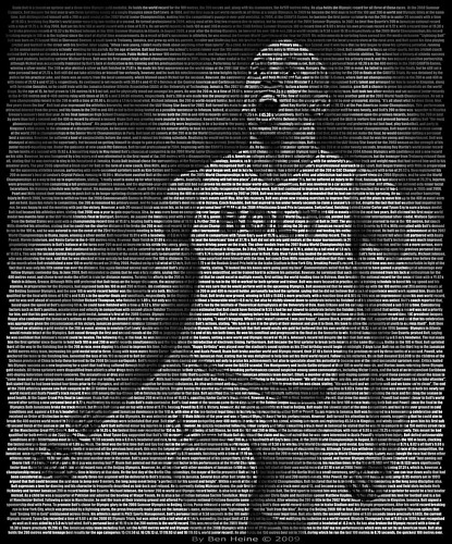 Usain Bolt, Text Portrait | by Ben Heine