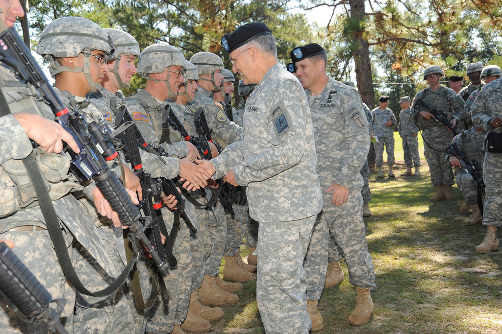 Gen Casey Visits Fort Benning  Army Chief Of Staff -1068