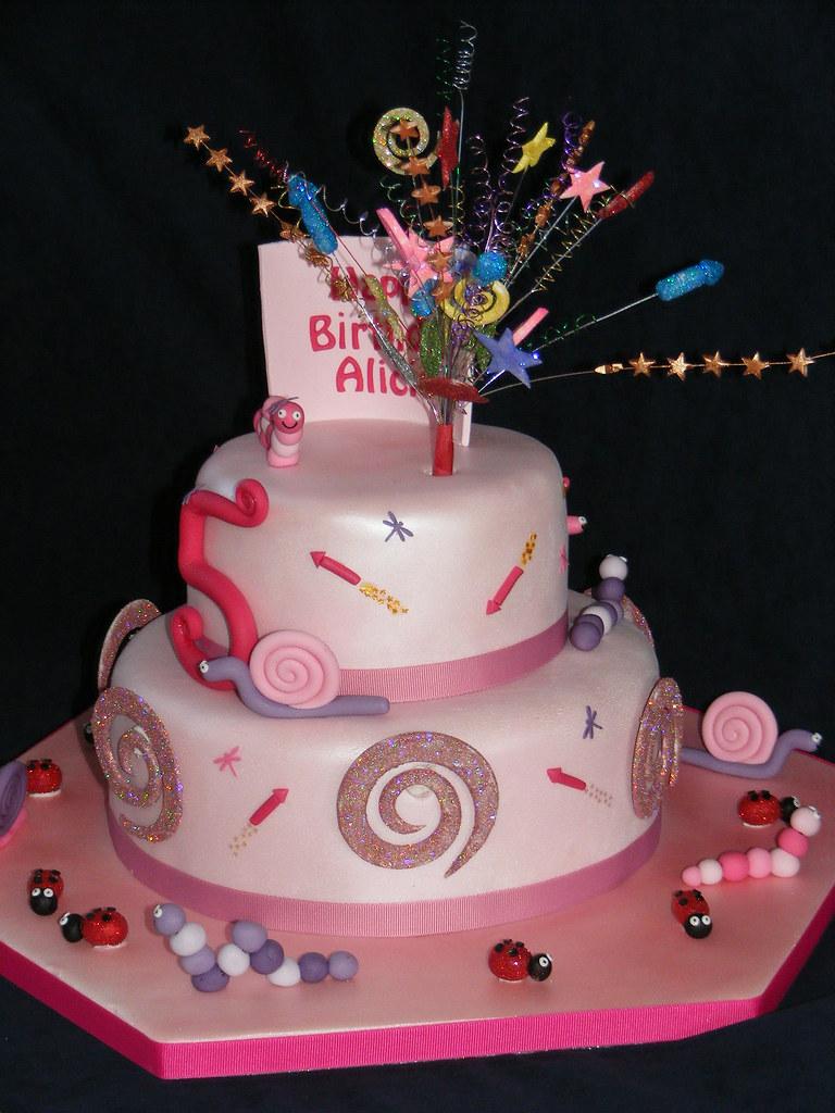 Fireworks Birthday Cake Vanilla Sponge Filled With Raspber Flickr