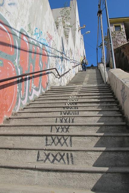 Escaleras m s largas las del cerro cordillera flickr for Escaleras largas