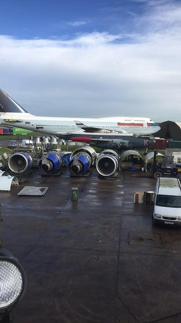 RAF Bruntingthorpe Dismantling Boeing 747