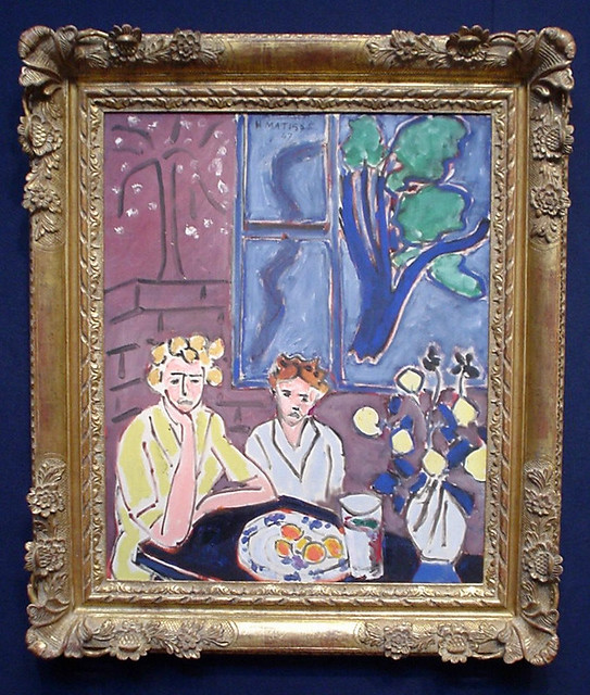 Matisse deux fillettes fenetre bleue viewing at for Matisse fenetre