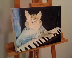 Keyboard Cat, Acrylic on Canvas | by budcaddell