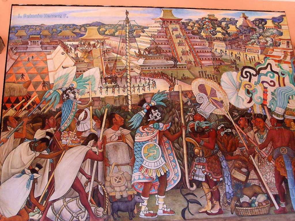 Mural en palacio nacional mexico df mural at national p for Diego rivera tenochtitlan mural