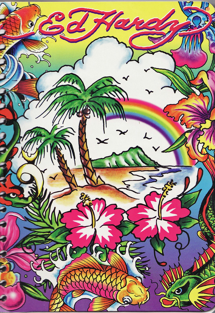 lisa frank does ed hardy you know when a trend has gone ma flickr. Black Bedroom Furniture Sets. Home Design Ideas