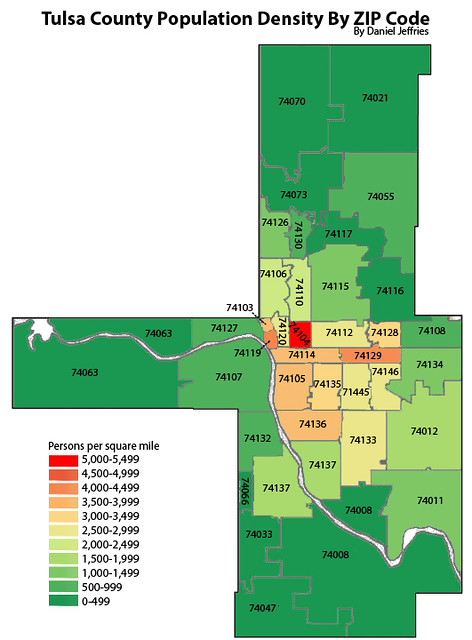 Tulsa County Zip Code Map Zip Code Map
