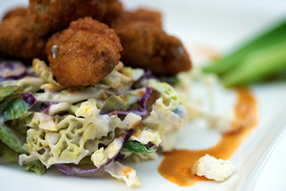 Buffalo Sweetbreads with Blue Cheese Slaw | by houseboat eats